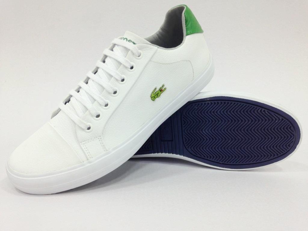 ... tênis de couro + cores todos os tamanhos. Carregando zoom. 3f8365167ee Impecável  LACOSTE Sapatenis Lacoste WHITE BLUE Portugal.108913 Explosão De Preços ... 7b5b075f80