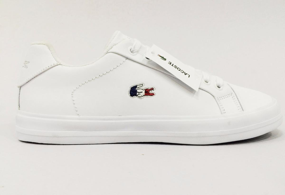 164dcd390fb82 sapatenis lacoste usa - modelo americano couro branco oferta. Carregando  zoom.
