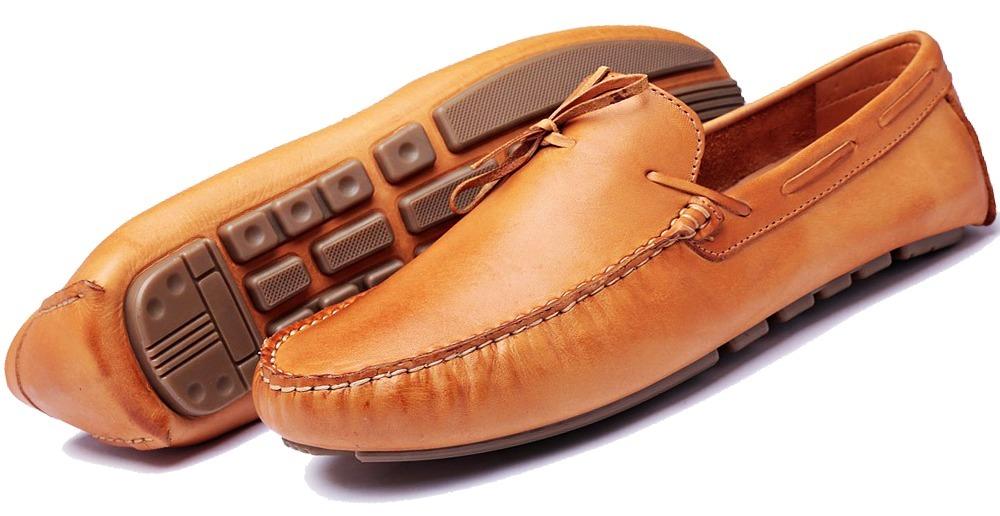 a3e215d185 sapatenis masculino mocassim drive sapato couro promoção. Carregando zoom.
