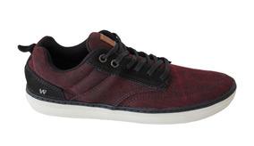 ee0512a1e5f Sapato Sapatenis Vermelho Bordo Vinho West Coast - Sapatos no ...