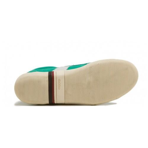 sapatenis osklen unissex verde branco camurça tênis