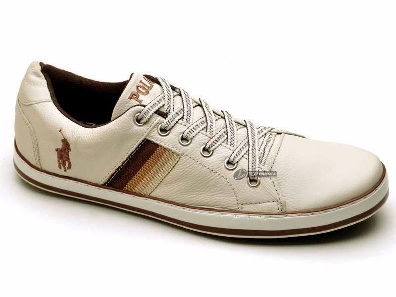 sapatenis polo tênis sapato masculino couro combina bermuda. Carregando  zoom. bd340cac770d7