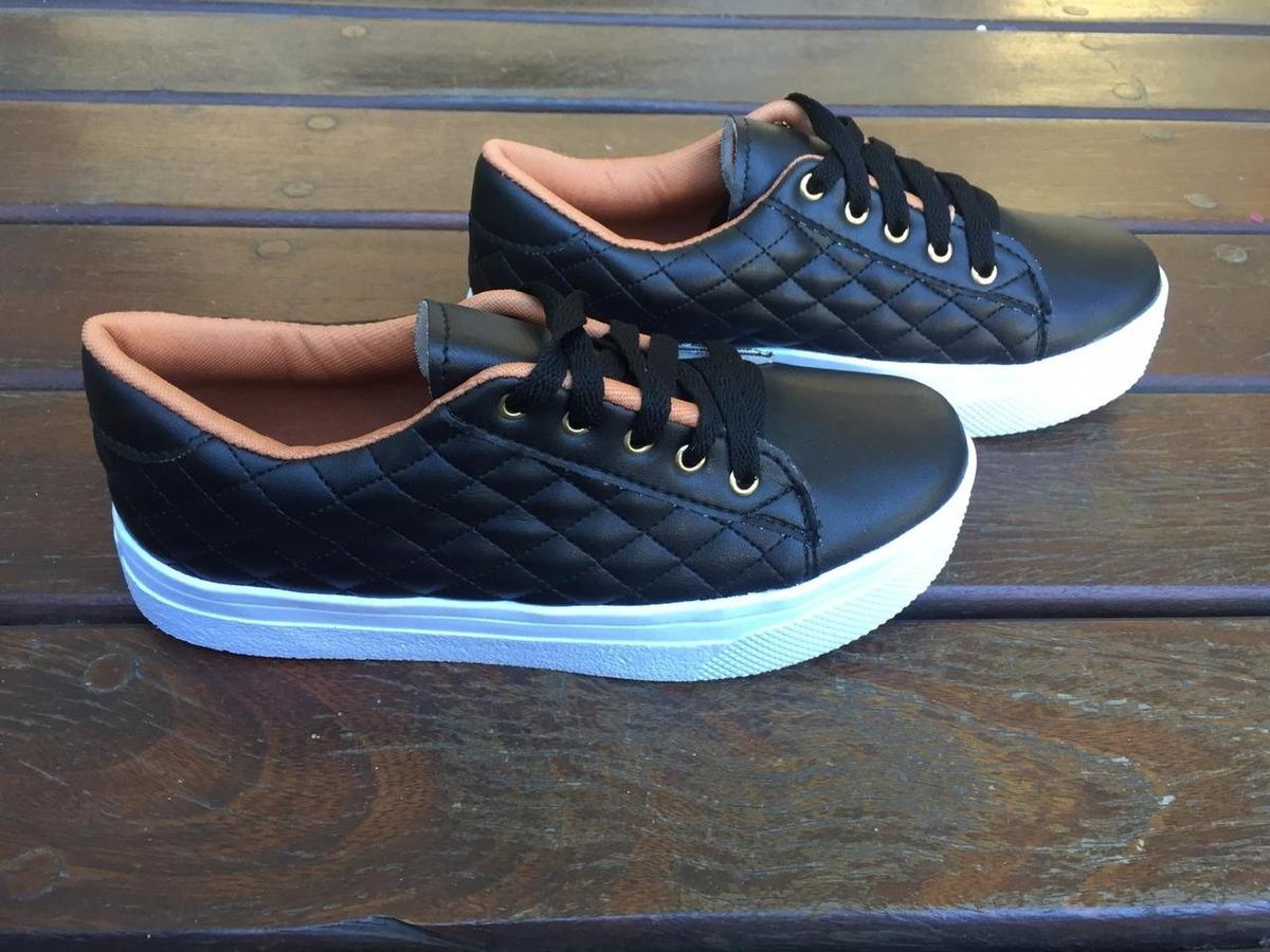 d392c2d47 sapatenis sapato tenis feminino casual black. Carregando zoom.