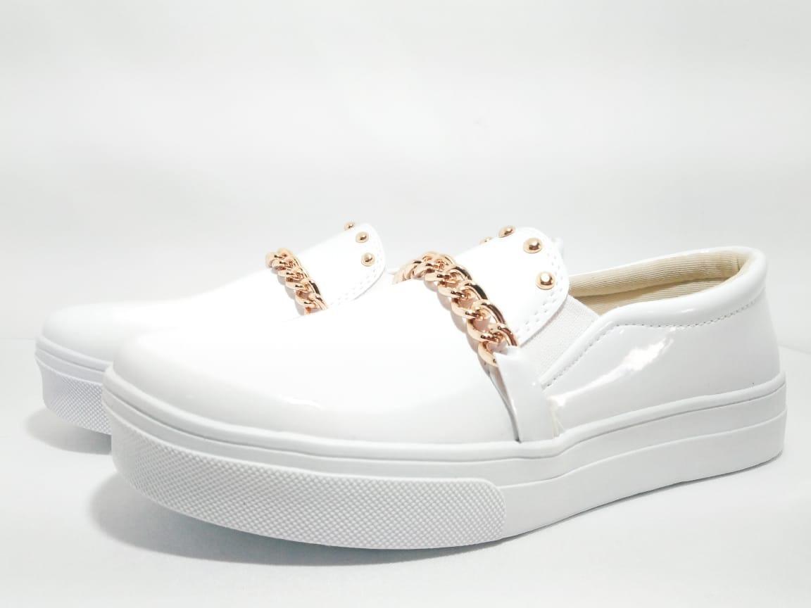 ac76196aa sapatenis sapato tenis slip verniz feminino lançamento. Carregando zoom.