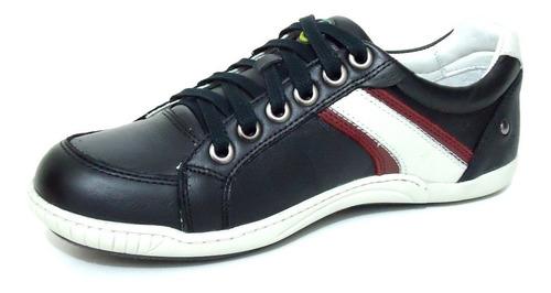sapatenis sapato tênis masculino em couro forrado cadarço