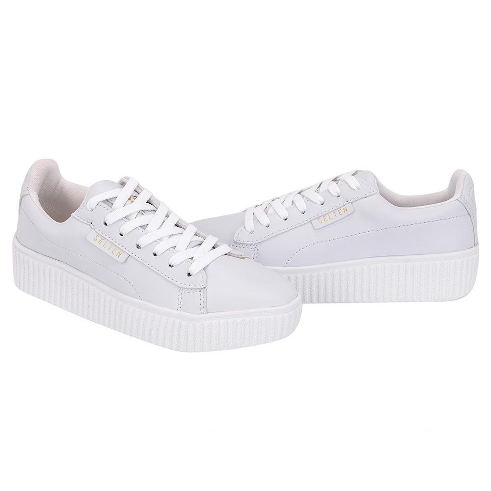bc578e26899 sapatenis tenis feminino branco casual skate barato couro. Carregando zoom.