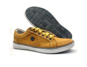 33b54c9d7e Sapatilha Nobuck Mostarda Sapatos Casuais Masculino - Sapatos com o ...