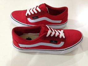 1a621c5cae 36 37 38 39 Pe Skate Vans Feminino - Tênis Urbano Vermelho com o ...