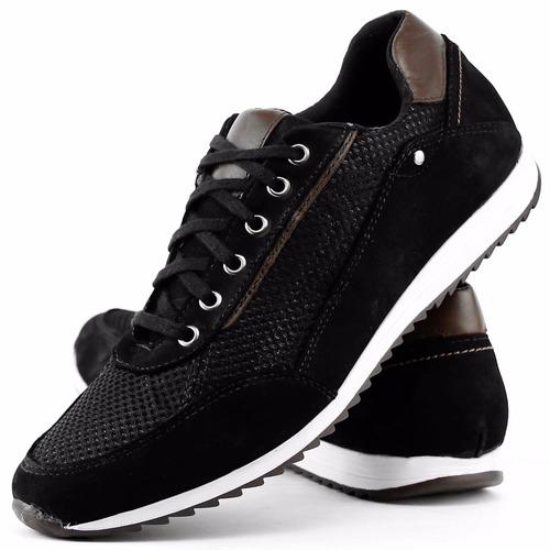 sapatenis tênis casual couro jogger jogging masculino dhl