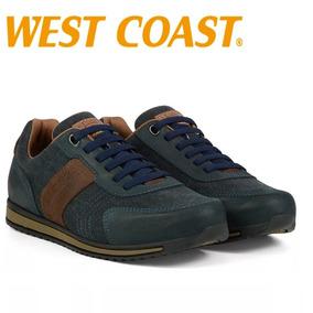 4579c84822 Sapatenis West Coast Couro Macio Azul Santa Catarina - Sapatos no ...