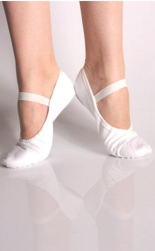sapatilha 1/2 ponta dança ballet - lona sola inteira