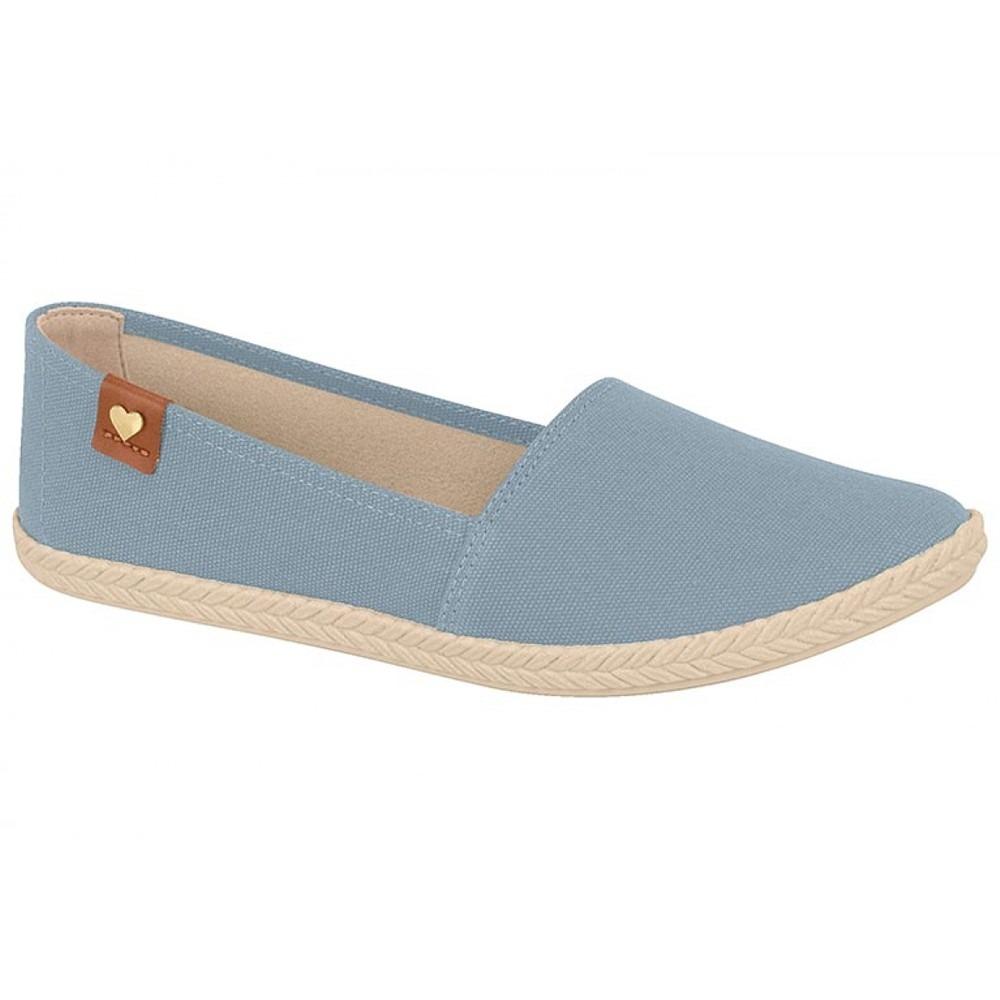 e354490952 Sapatilha Alpargata Feminina Flex Moleca Na Cor Azul Jeans - R  89 ...