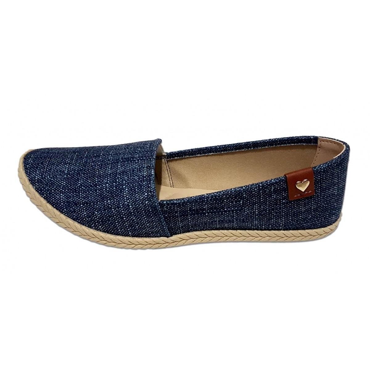 4f3cd2a725 sapatilha alpargata jeans escuro feminino moleca. Carregando zoom.