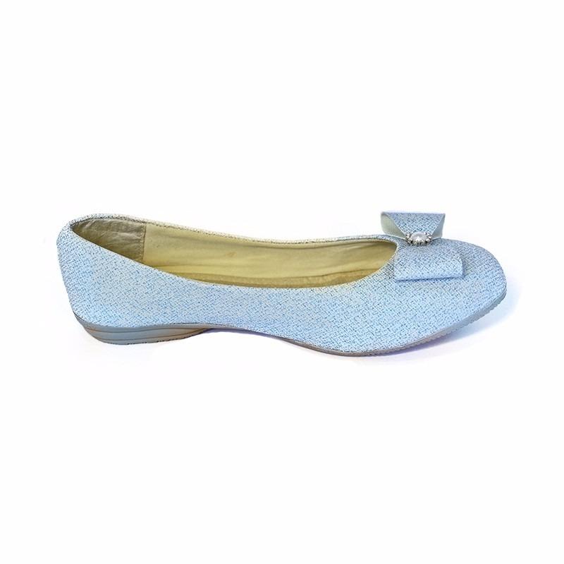 f1e5b263a4 sapatilha azul bebê glitter com laço - dona kotta. Carregando zoom.
