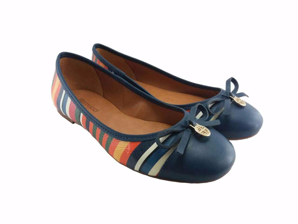 e8ddf12a4 sapatilha azul marinho listras coloridas ferrucci 100170. Carregando zoom.