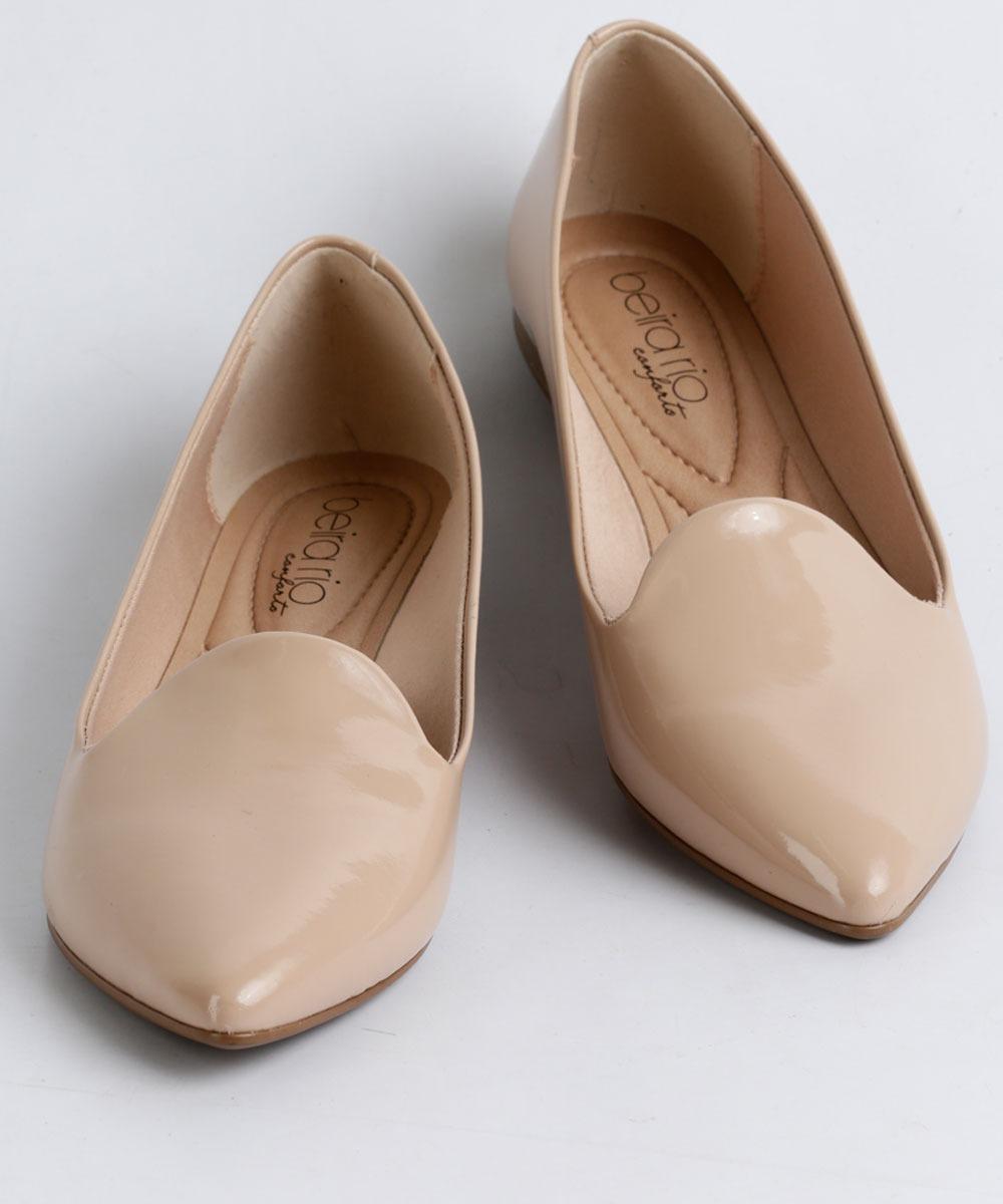 2bfd69d21 sapatilha feminina beira rio verniz slipper - nude - nf-e. Carregando zoom...  sapatilha beira rio. Carregando zoom.