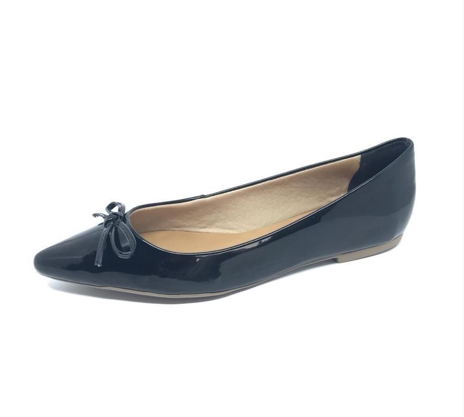 464911f1e sapatilha bico fino preta verniz alta qualidade. Carregando zoom.