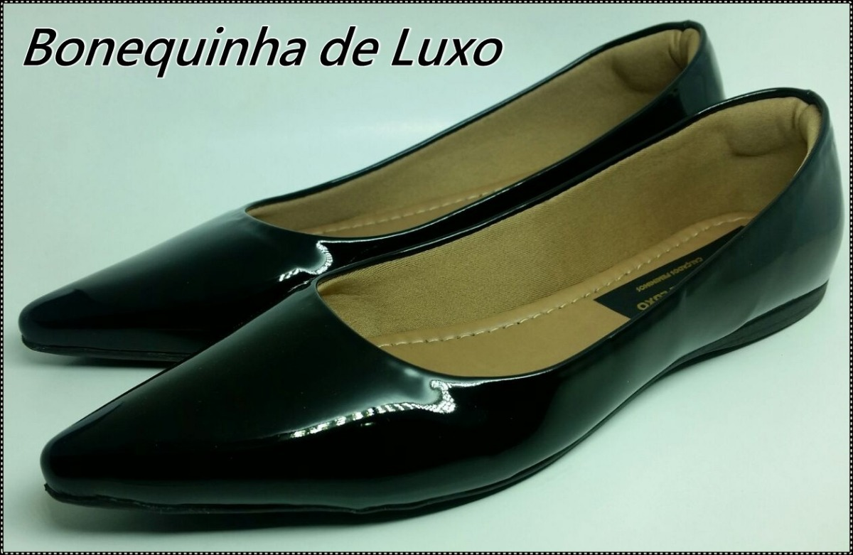 fc365d18b sapatilha bico fino preta verniz - frete grátis - brasil. Carregando zoom.
