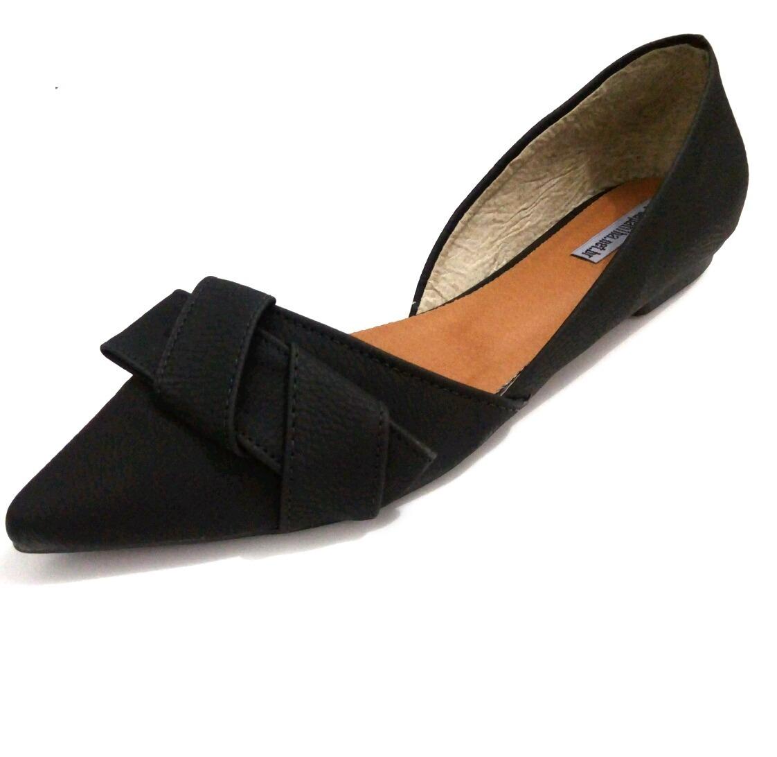 eea379ae6 sapatilha bico fino preto sapato social feminino casual. Carregando zoom.