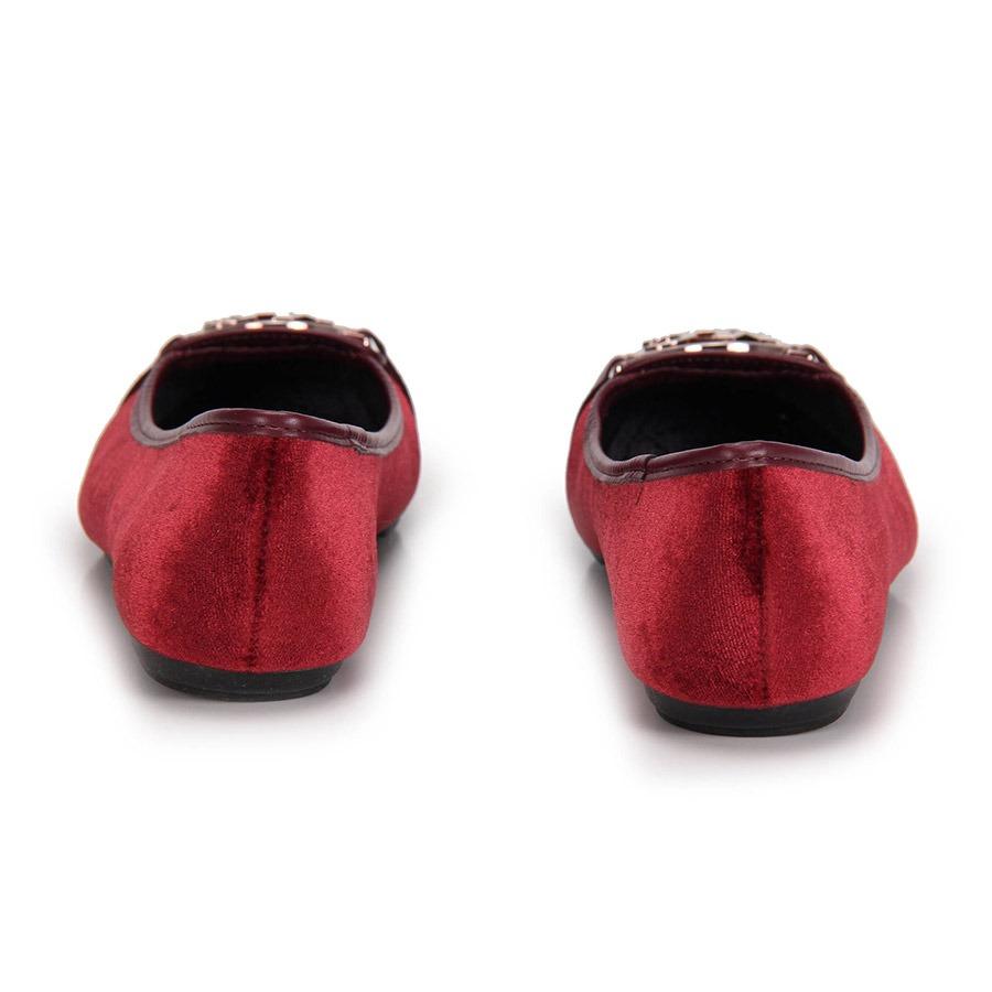 e0ff62946e sapatilha bico quadrado moleca veludo - vinho. Carregando zoom.