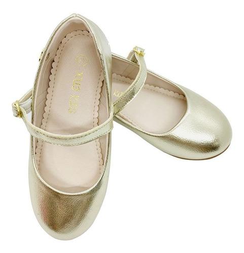 sapatilha boneca infantil menina dourada xuá xuá feminina