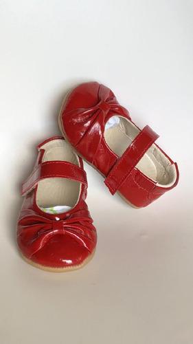 sapatilha boneca laço bebe couro vermelho verniz b+b