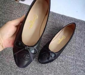 666b93518 Sapatilha Chanel Couro - Calçados, Roupas e Bolsas com o Melhores Preços no  Mercado Livre Brasil
