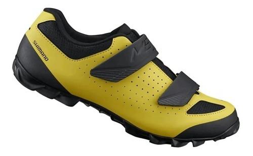 sapatilha ciclismo mtb shimano me1 amarela promoção