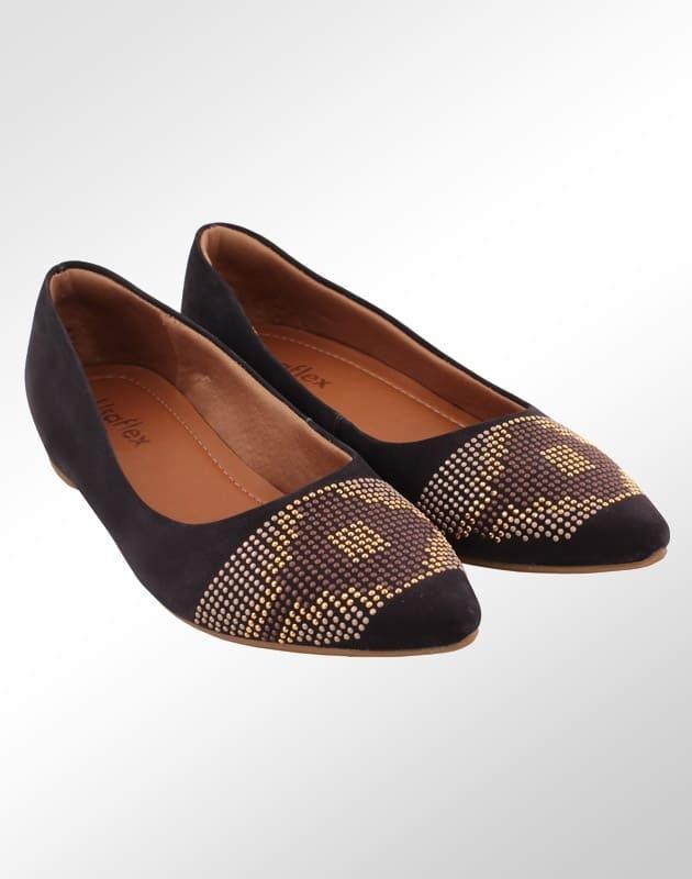 b0d2618e97a sapatilha couro conforto usaflex bico fino feminino. Carregando zoom.