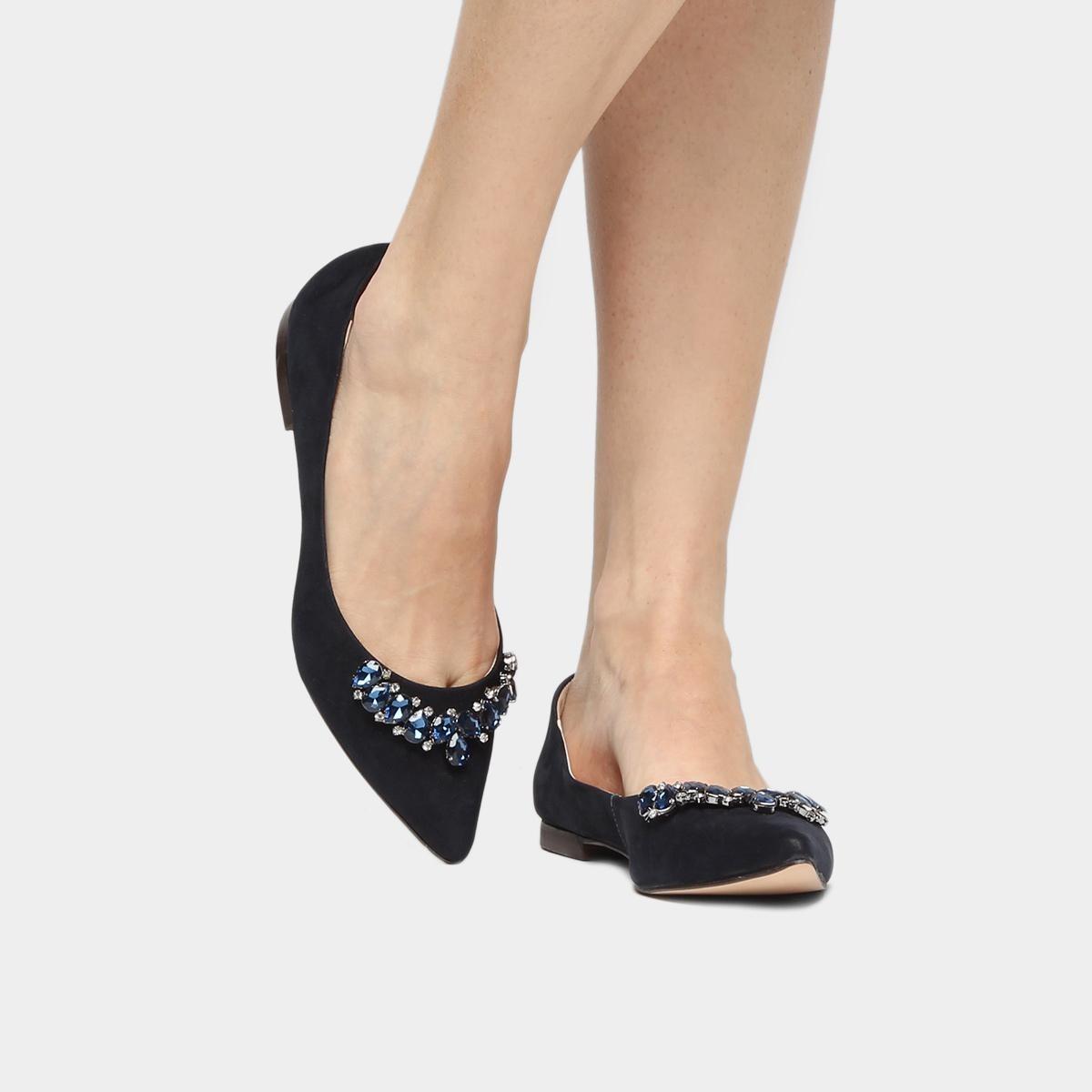 3676f8f23c sapatilha couro shoestock pedraria feminina. Carregando zoom.