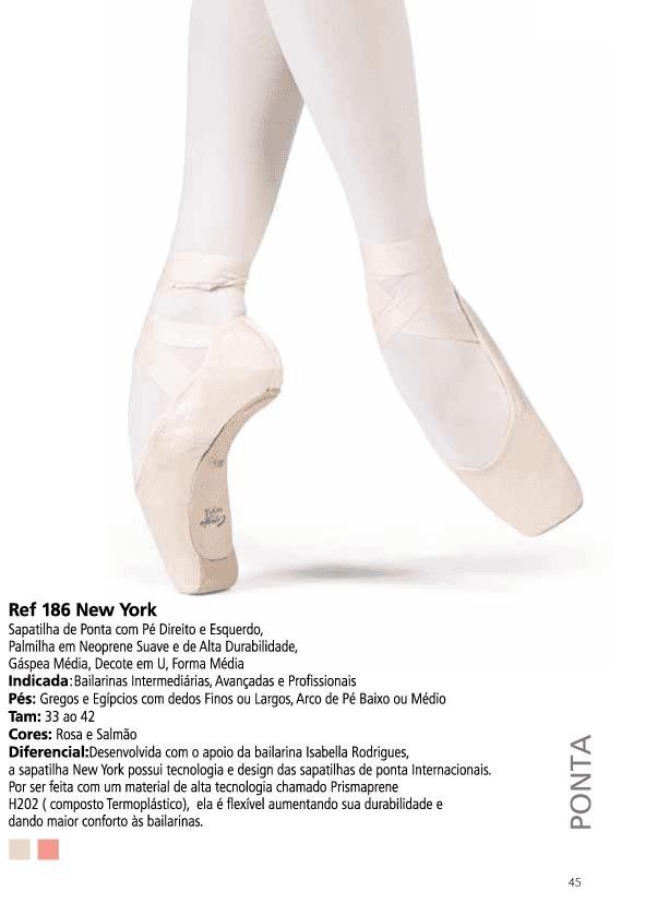 75d1927b90 Sapatilha De Ponta Ballet New York Ref.186 Capezio - R  184