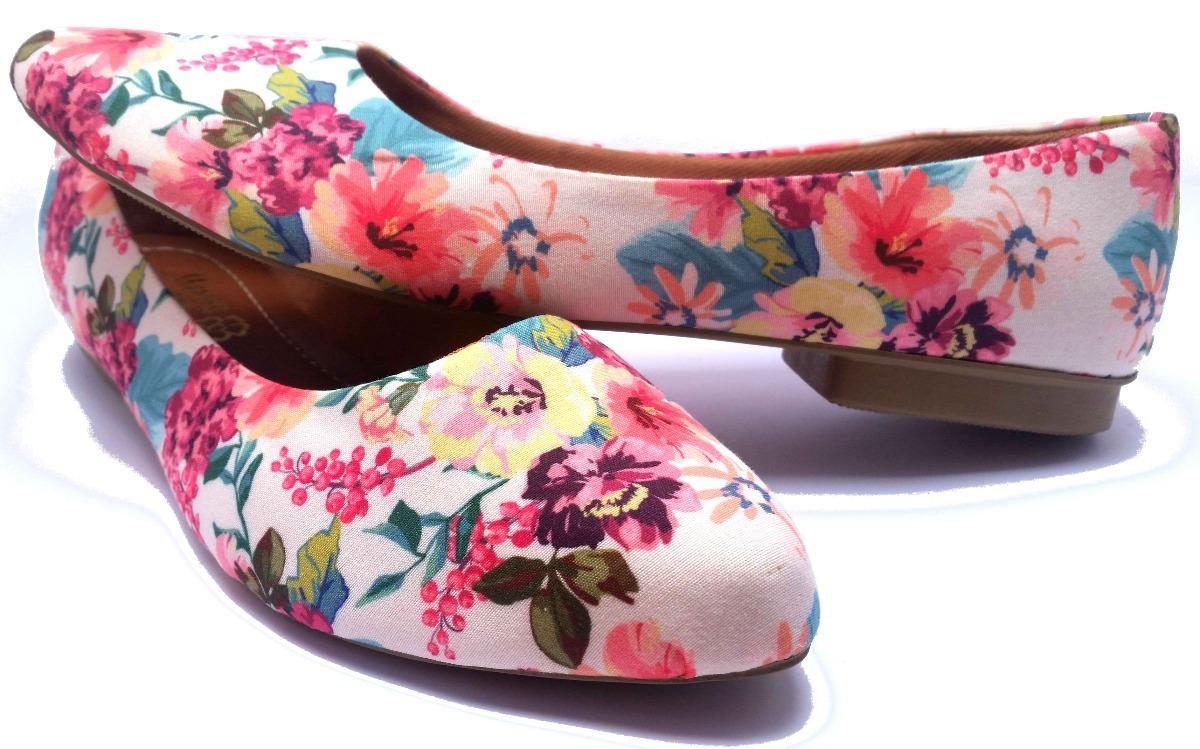64ccb04c0 Sapatilha Em Tecido Estampado Floral - R$ 29,90 em Mercado Livre