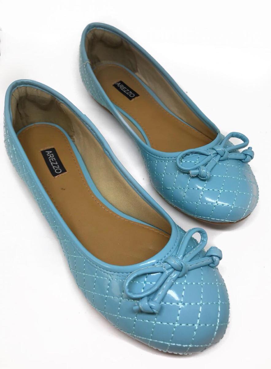 fdf7b5a9a6 Sapatilha Feminina Arezzo Classic - Azul Bebê - R  69