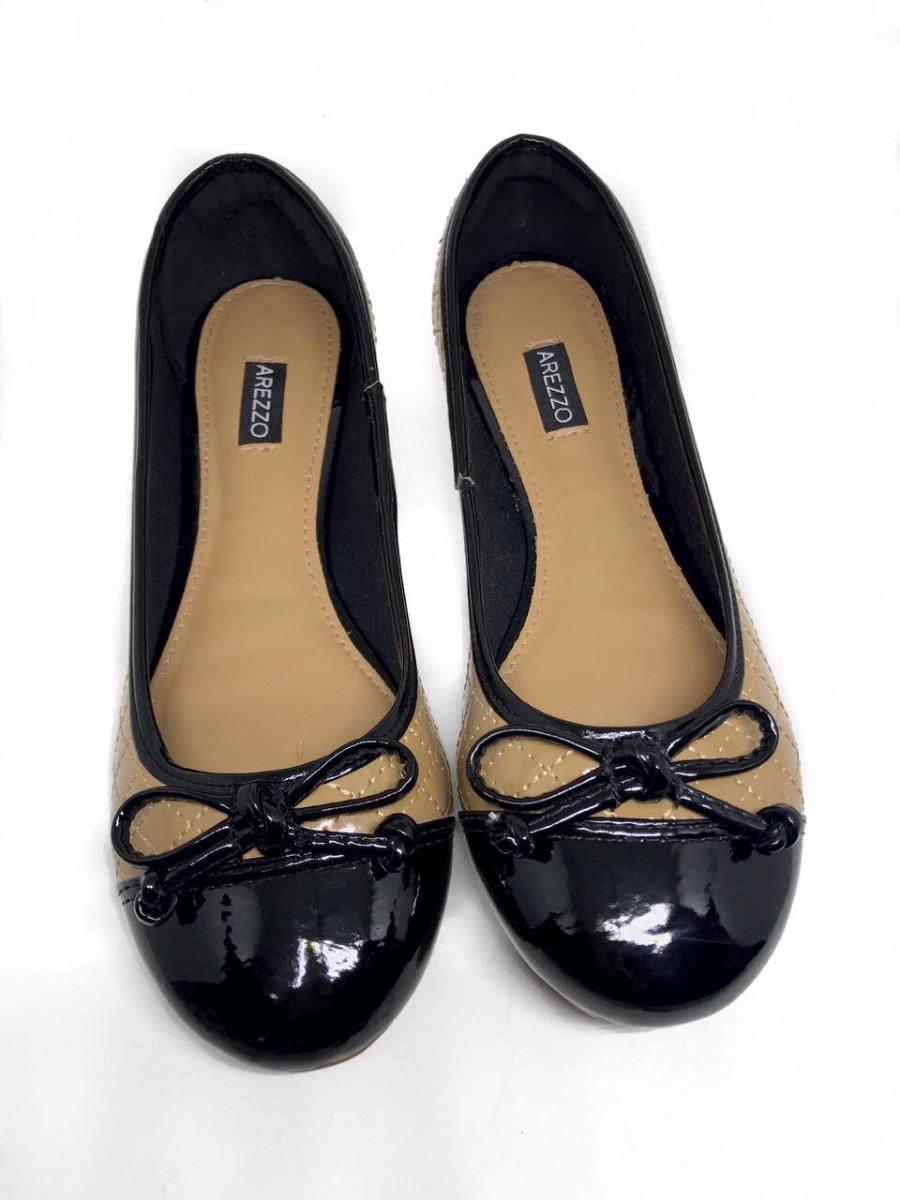 baac84ce6 sapatilha feminina arezzo classic - bege com preto. Carregando zoom.