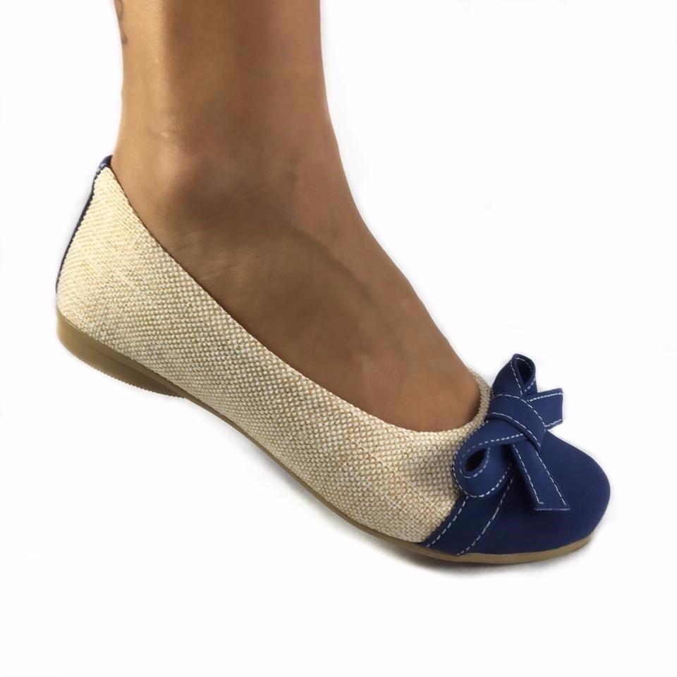 f76cce756 sapatilha feminina bege nude marrom azul laço bico redondo. Carregando zoom.