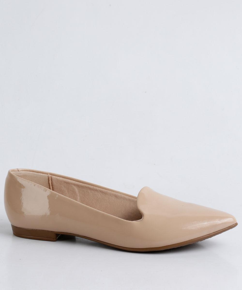 0cf3eeead sapatilha feminina beira rio verniz slipper - nude - nf-e. Carregando zoom.