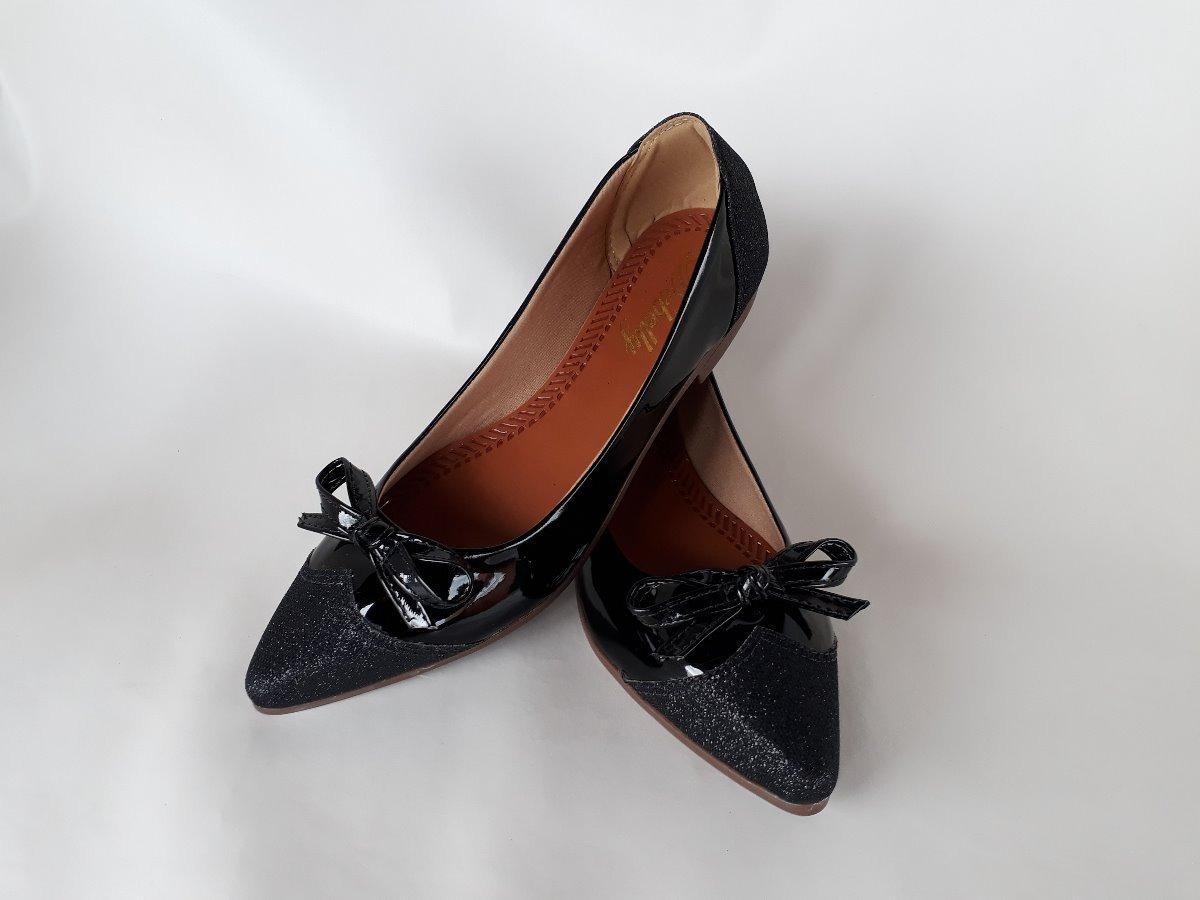 220644196 sapatilha feminina bico fino verniz lindas e confortáveis. Carregando zoom.