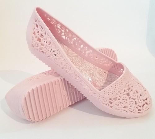 sapatilha feminina bico redondo rosa