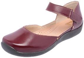 10dcd32056 Sapato Feminino Spatifilus Couro Vermelho Boneca Sapatilhas ...