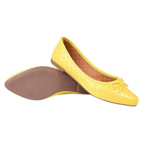 sapatilha feminina casual bico fino verniz chiquiteira cal05