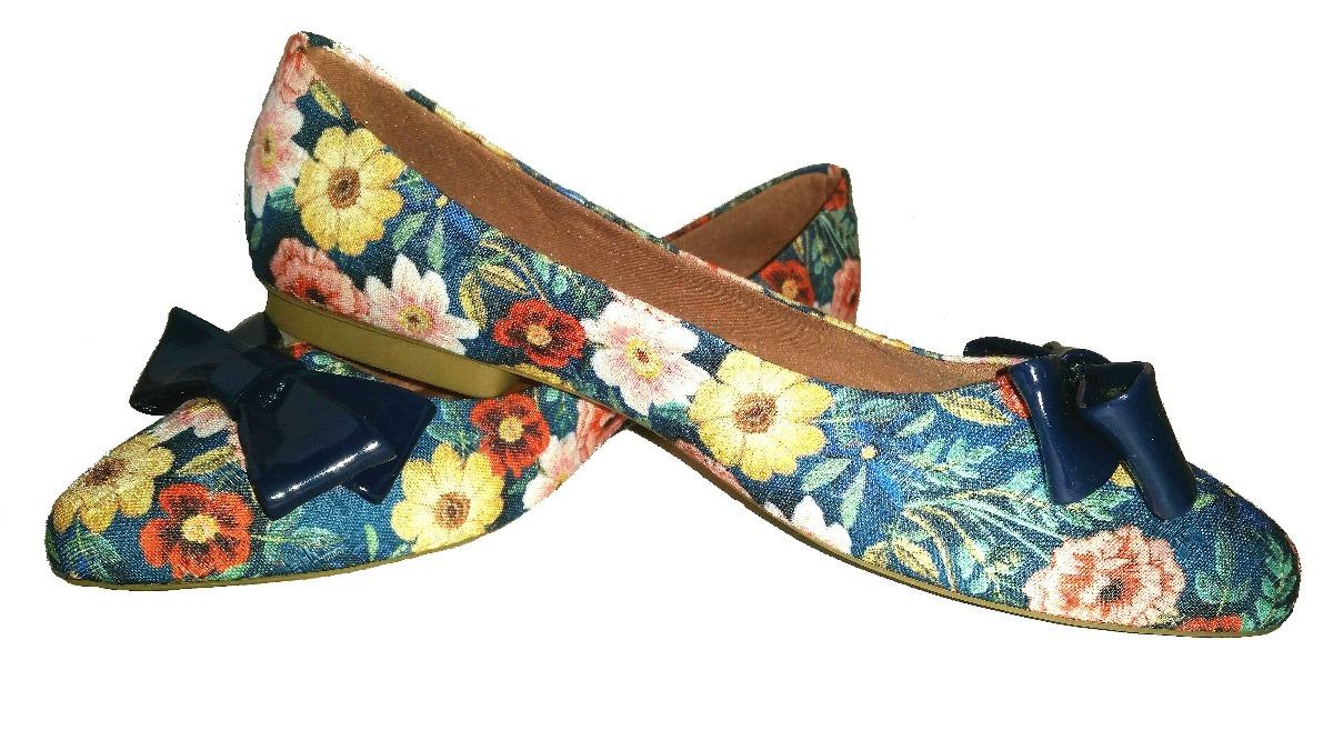 583fb95a2 sapatilha feminina em tecido estampado floral top de linha. Carregando zoom.