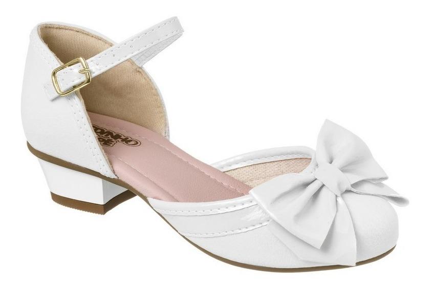 d7a4732b67 sapatilha feminina infantil sandália branca com salto 79501. Carregando zoom .