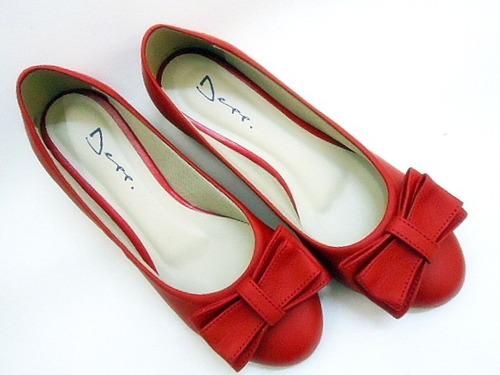 sapatilha feminina laço vermelho