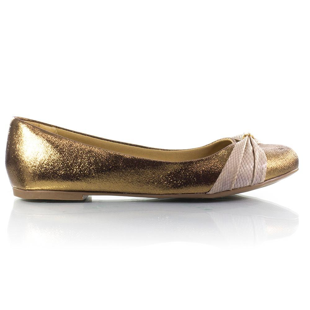 78ae63a3e78 sapatilha feminina linda luz ouro. Carregando zoom.