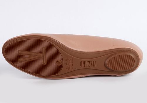 sapatilha feminina lisa básica pelica nude vizzano