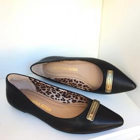 2d896b53bc Sapatilha Feminina Morena Rosa Shoes Preto Bico Fino