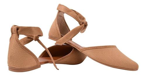 sapatilha feminina mule rasteira rasterinha bico fino wls91