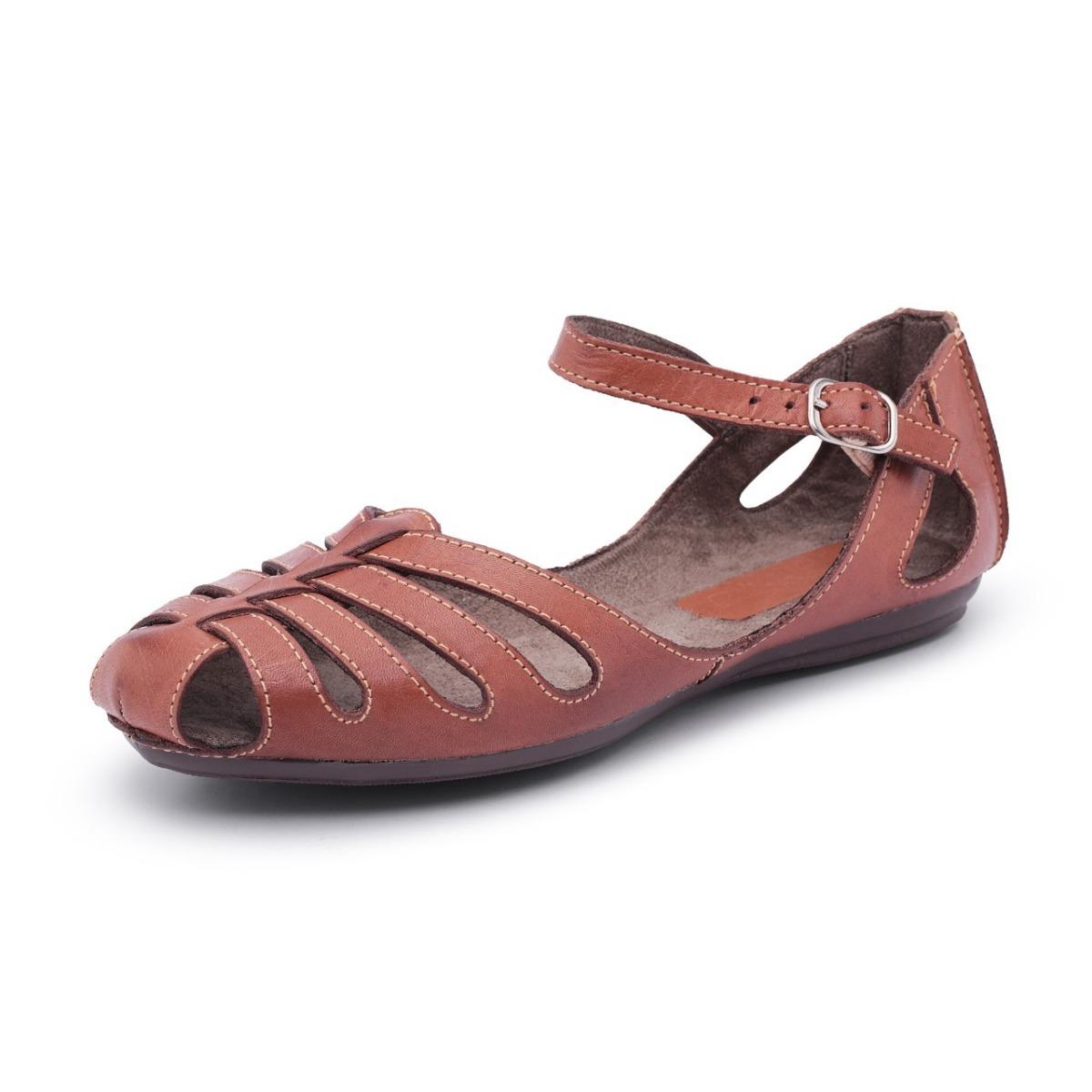 5e9d0dc310 sapatilha feminina sandália estilo azaleia conforto em couro. Carregando  zoom.