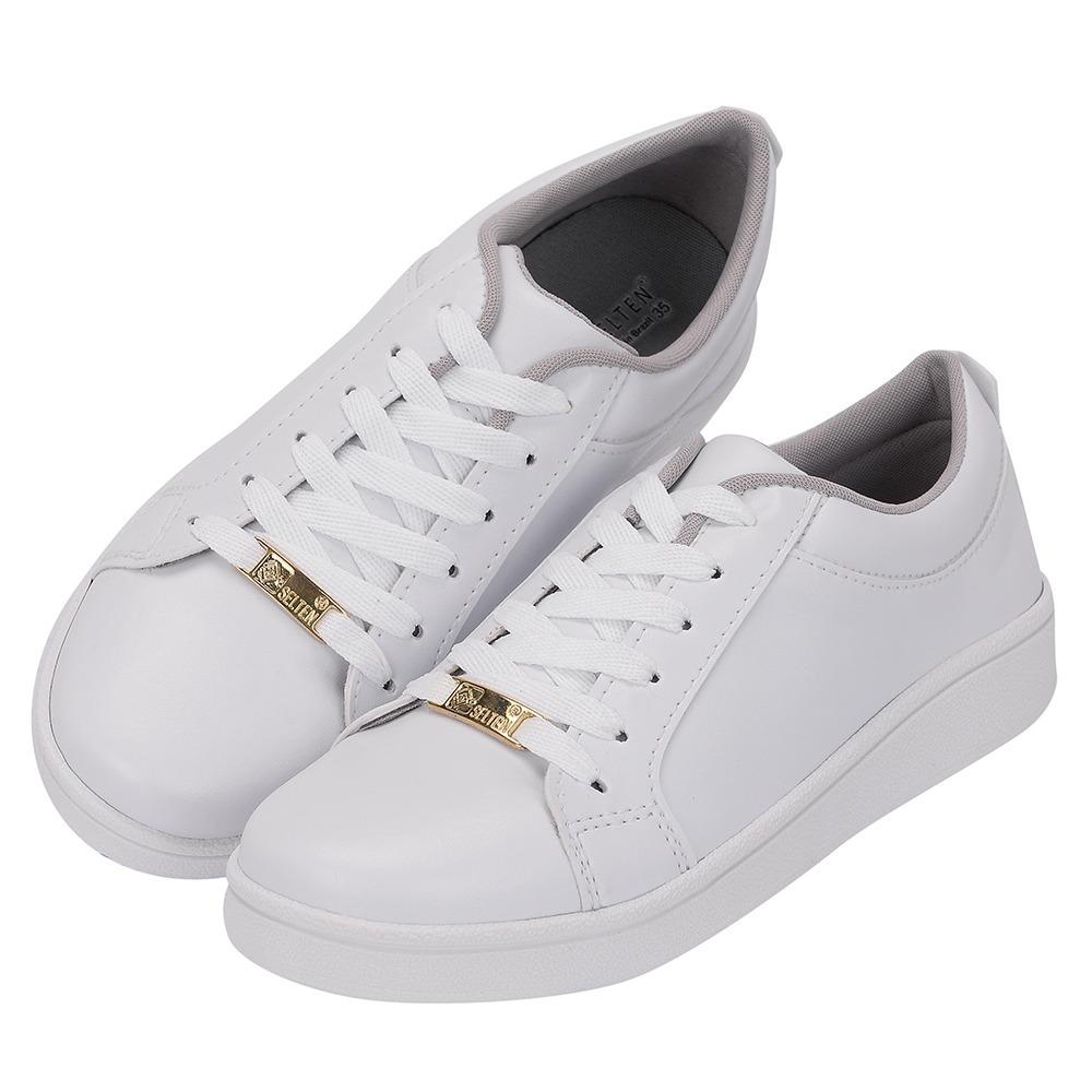 ee7de1904ca sapatilha feminina sapatênis tenis branco casual barato. Carregando zoom.