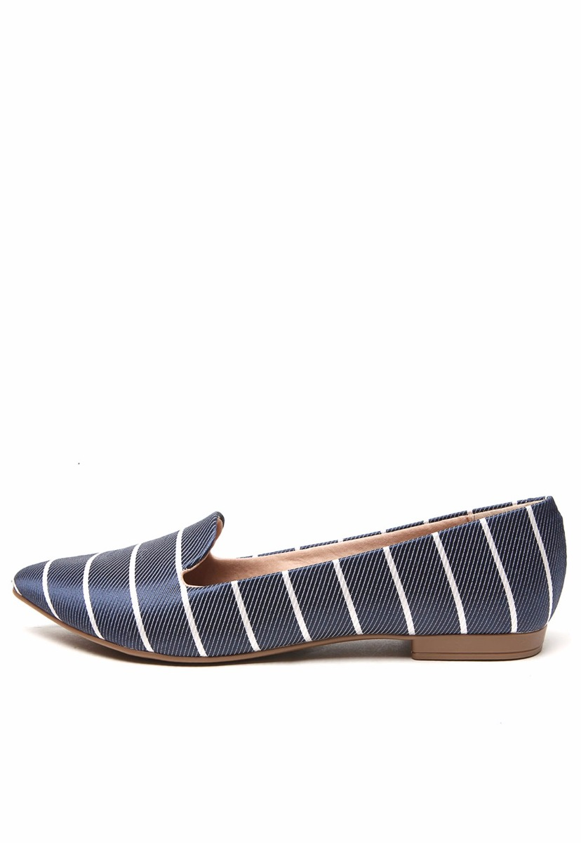 c2e4a689dc0 sapatilha feminina slipper beira rio conforto azul listrado. Carregando  zoom.